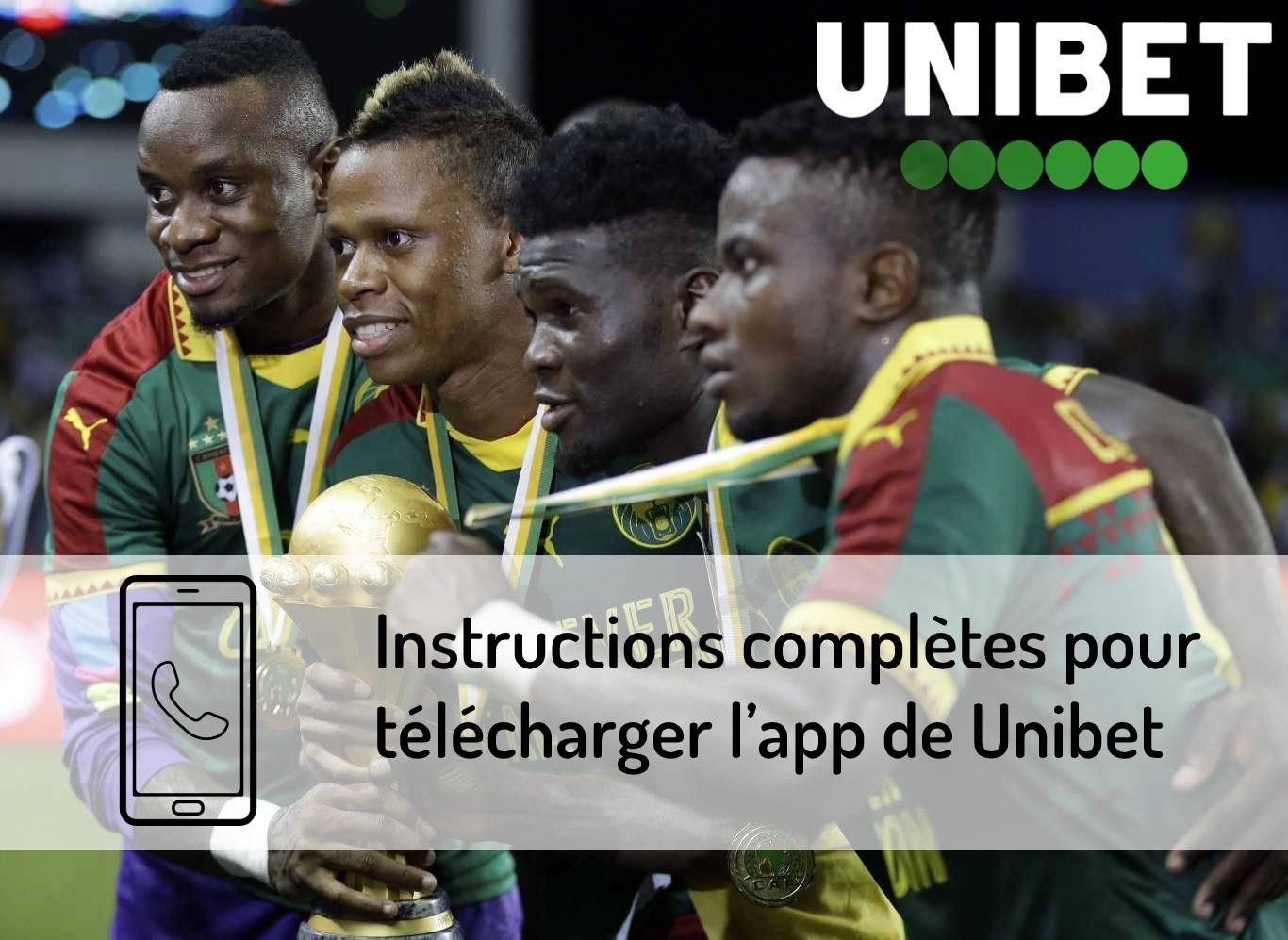 Instructions pour télécharger l'app de Unibet