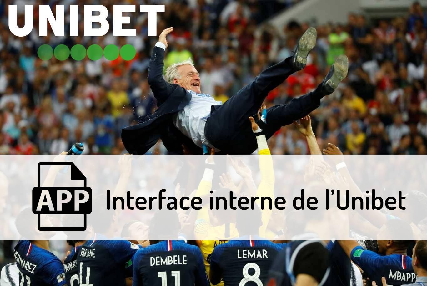 Interface interne de l'Unibet