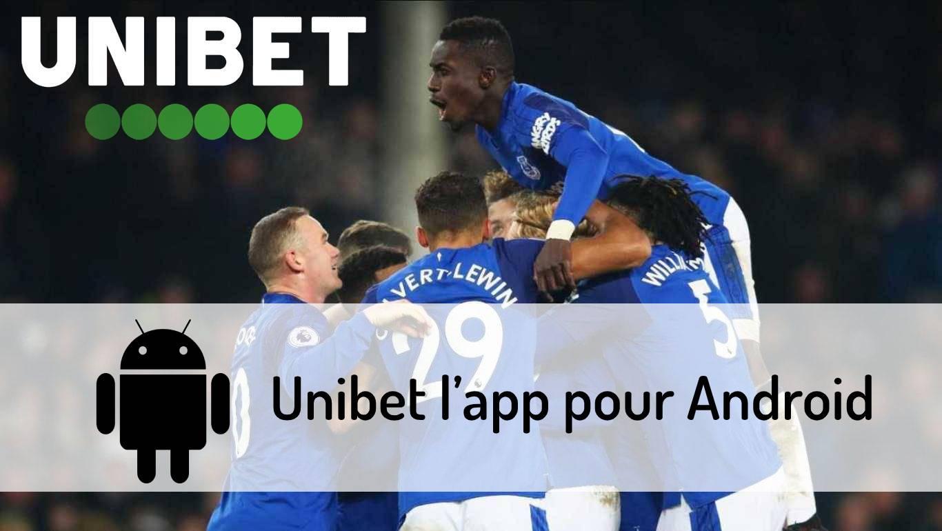 Unibet l'app pour Android