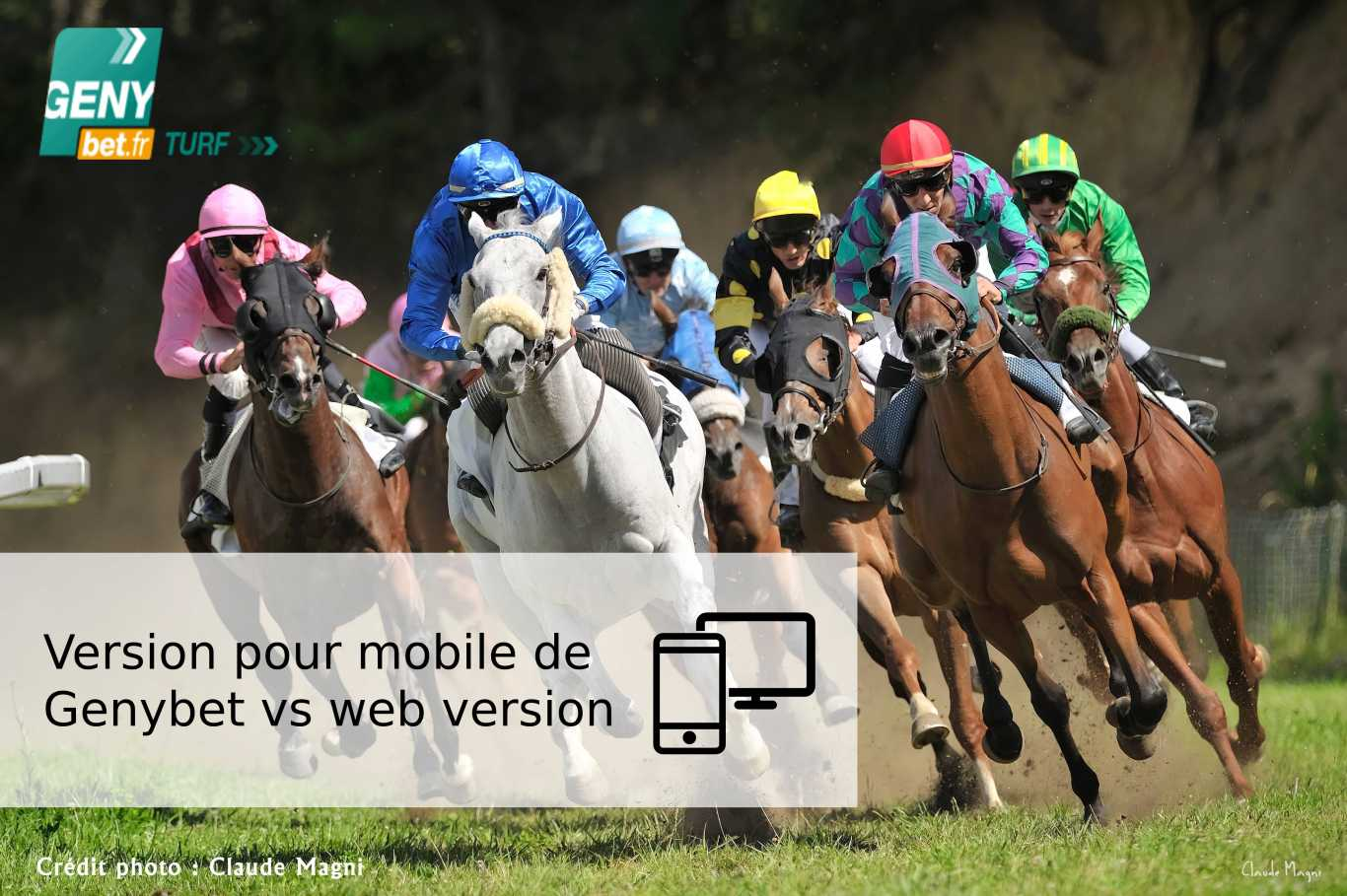 Version pour mobile de Genybet vs web version
